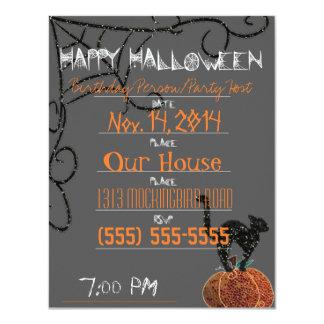 Halloween-Party/Geburtstag 10,8 X 14 Cm Einladungskarte