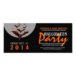 Halloween-Party laden die schwarzen u. orange 10,2 X 23,5 Cm Einladungskarte