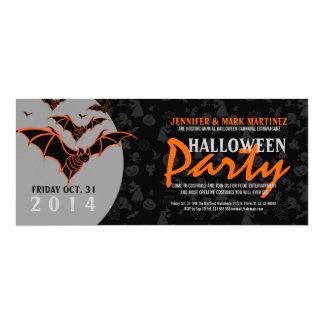 Halloween-Party laden schwarze u. orange Schläger 10,2 X 23,5 Cm Einladungskarte