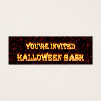 Halloween-Party lädt ein Mini Visitenkarte