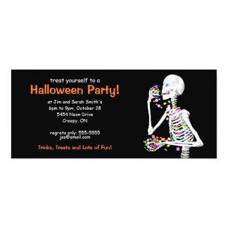 Halloween-Party-Skelett 10,2 X 23,5 Cm Einladungskarte