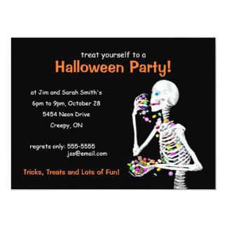 Halloween-Party-Skelett 16,5 X 22,2 Cm Einladungskarte