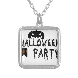 Halloween-Partyentwurf Halskette Mit Quadratischem Anhänger