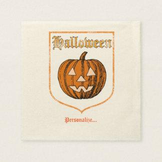 Halloween, personalisiert papierserviette