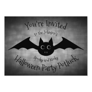 Halloween potluck Partyfamilie Karte