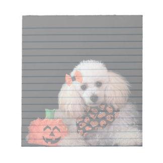 Halloween-Pudelhundenotizblock Notizblock
