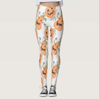 Halloween Pumkins Leggings