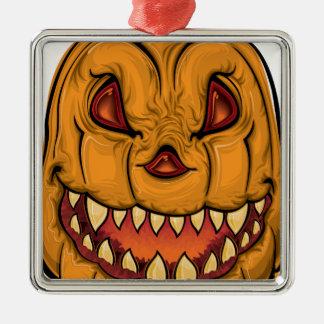 Halloween pumpkin-1640482 quadratisches silberfarbenes ornament