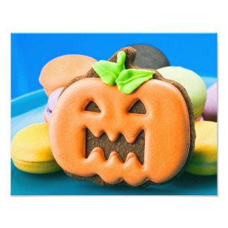 Halloween pumpkin and colorful Cookien Photo Druck