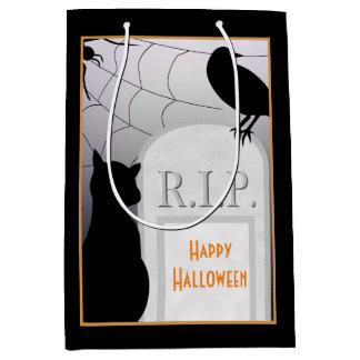 Halloween-RIP Grabstein-Katze MGB Mittlere Geschenktüte