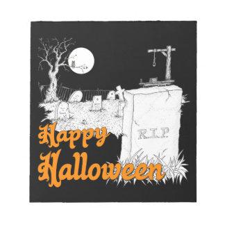 Halloween-RIP Notizblock