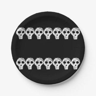 Halloween-Schädel 4Lonnie Pappteller
