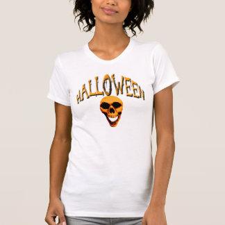 Halloween-Schädel-Damen zierlich T-Shirt