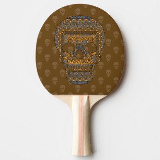 Halloween-Schädel-Klingeln Pong Paddel Tischtennis Schläger