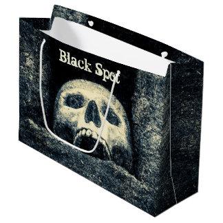 Halloween-Schädel-schwarze Stellen-Piraten-Party Große Geschenktüte