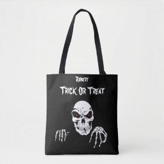 Halloween-Schädel-Trick oder Leckerei Tasche