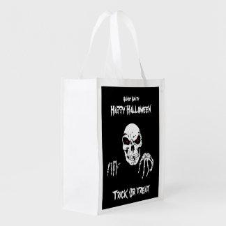 Halloween-Schädel-wiederverwendbare Trick-oder Wiederverwendbare Einkaufstasche