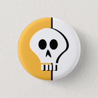 Halloween-Schädelknopf Runder Button 2,5 Cm