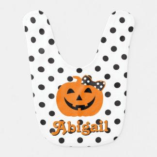 Halloween-Schellfisch-Kürbis-Schellfisch für Baby Lätzchen