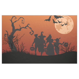 Halloween scherzt, tote Bäume, Mond, Schläger Stoff