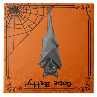 Halloween-Schläger-Dekor! Bekloppt gegangen! Fliese