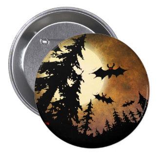 Halloween-Schläger, gespenstischer Wald am Runder Button 7,6 Cm