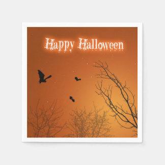 Halloween-Schläger u. Bäume - Papierserviette