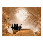 Halloween-Schlägerkatze Postkarte