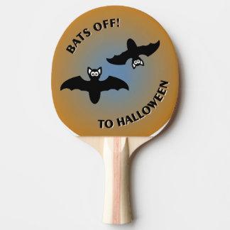 Halloween schlägt orange Blau Tischtennis Schläger