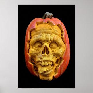 Halloween Sculpted Jack-O' - Poster