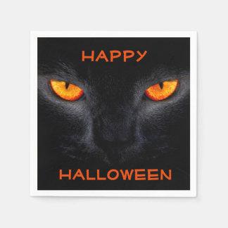 Halloween-Serviette/schwarze Katze Servietten