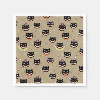 Halloween-Serviette/schwarze Katzen Servietten