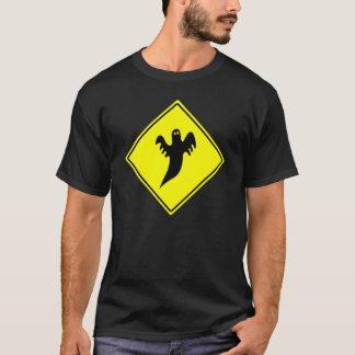 Halloween-Shirt - Geist-Warnzeichen T-Shirt