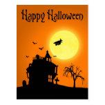 Halloween-Silhouette-Landschaft - Postkarte