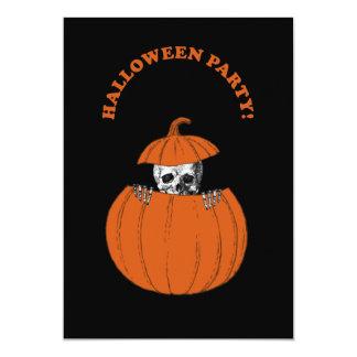 Halloween-Skelett 12,7 X 17,8 Cm Einladungskarte