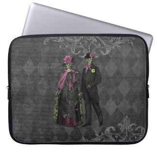 Halloween-Skelett-Paare Laptop Sleeve