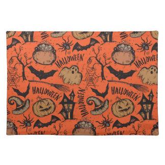 Halloween-Skizze! Stofftischset
