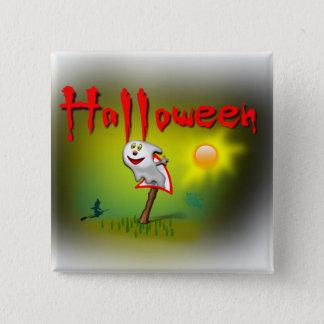 Halloween-Sonnenschein-Geist - Quadratischer Button 5,1 Cm