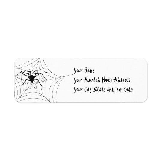 Halloween-Spinne Rücksendeetiketten