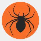 Halloween-Spinnen-Aufkleber Runder Aufkleber