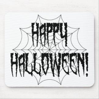 Halloween-Spinnen-Finger und Netz Mousepad