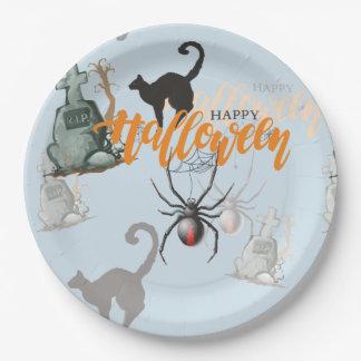 Halloween-Spinnen-Grab Pappteller