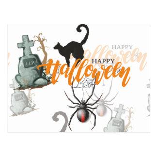 Halloween-Spinnen-Grab Postkarte