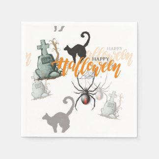 Halloween-Spinnen-Grab Serviette