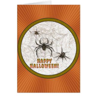 Halloween-Spinnen Karte