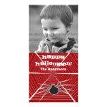 Halloween-Spinnen-Netz-Gruß-Foto-Karte