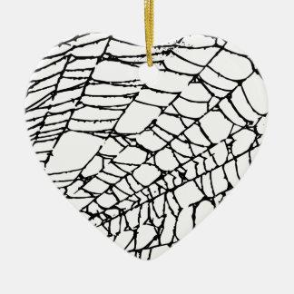 Halloween-Spinnen-Netz Keramik Herz-Ornament