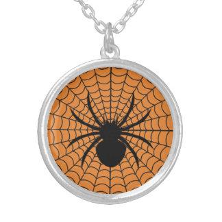 Halloween-Spinnen-runde Halskette