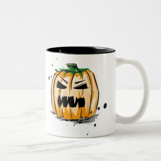 Halloween Spooky Pumpkin Zweifarbige Tasse
