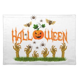 Halloween Stofftischset